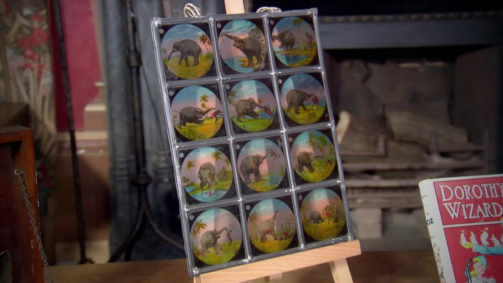 Leaded panel containing 12 lantern slides. £160 | The Swan | www.theswan.co.uk