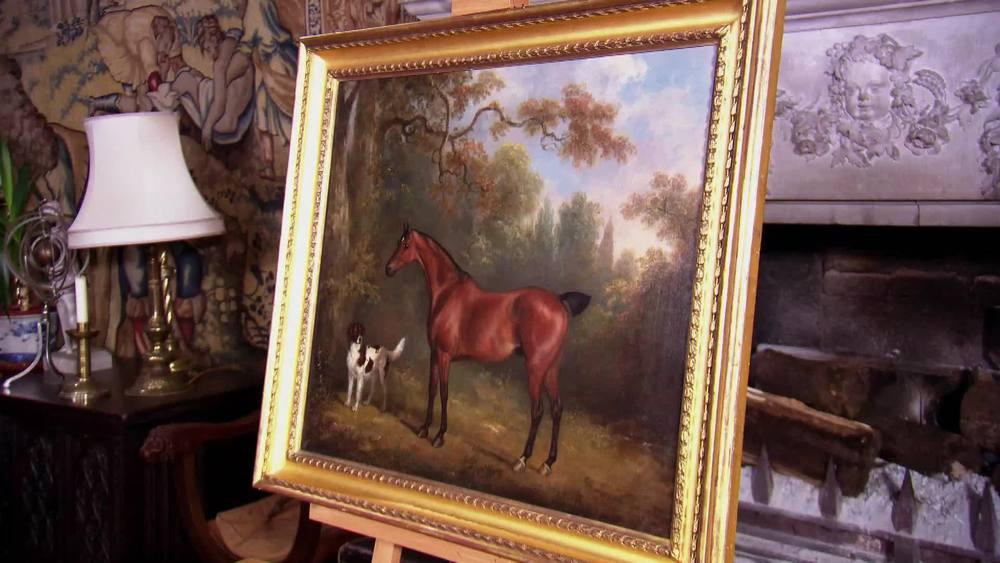 Charles H Schwanfelder 1774-1837. Horse and Dog in a landscape. £14,000 | McMillan Fine Art|www.mcmillanfineart.com