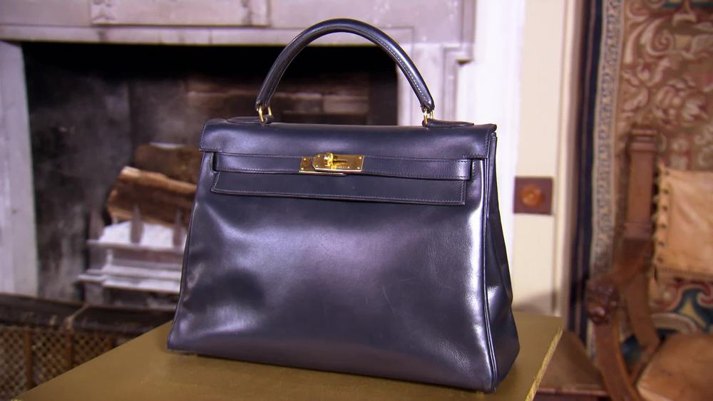 Hermes navy blue handbag. £2000 | Private Collection