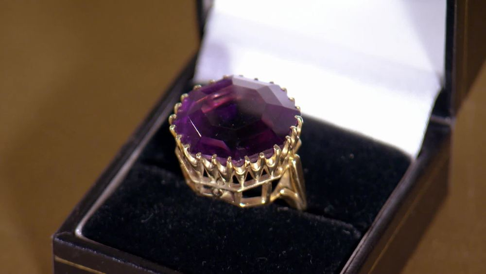 Large amethyst and gold ring. £500 | The Swan | www.theswan.co.uk