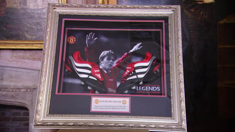 David Beckham's football boots from the 1999 Manchester United triple winning season. £10,000 | Fundraising Auctions | www.fundraising-auctions.co.uk
