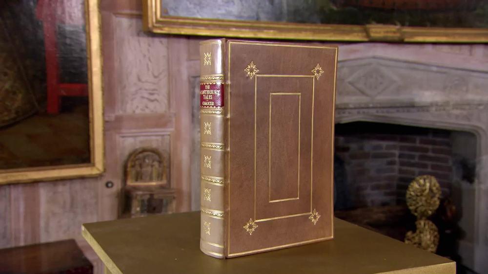Canterbury Tales. Facsimile reprint and binding. £360 |George Bayntun Fine Bindings and Rare Books |www.georgebayntun.com