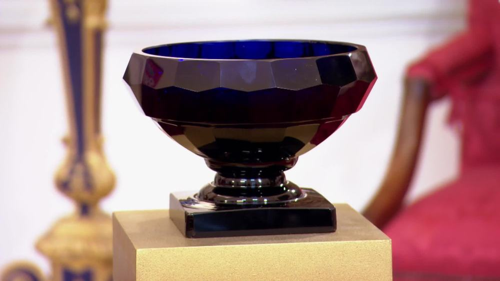 Bristol Blue Glass Bowl dating from the mid 19th century. £950 | Xupes | www.xupes.com