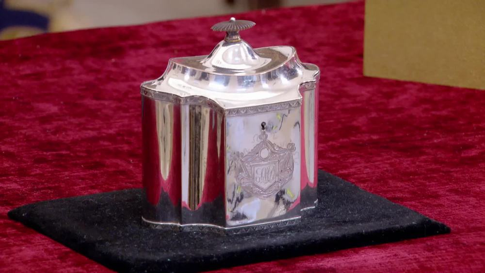 Finely shaped oval 18th century Sheffield Plate Tea Caddy. £500 | David Foord-Brown | www.davidfoord-brown.com