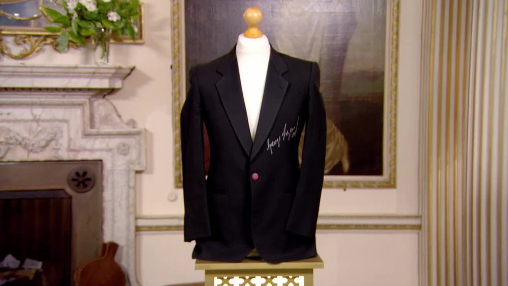 George Lazenby signed dinner jacket. £150 | Autografica | www.autografica.co.uk