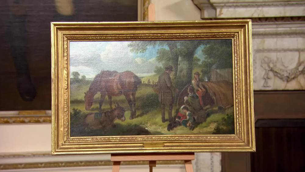 H & C Shayer - Figures and Horses in a Landscape, dating from the 19th century. £2000 | McMillan Fine Art | www.mcmillanfineart.com