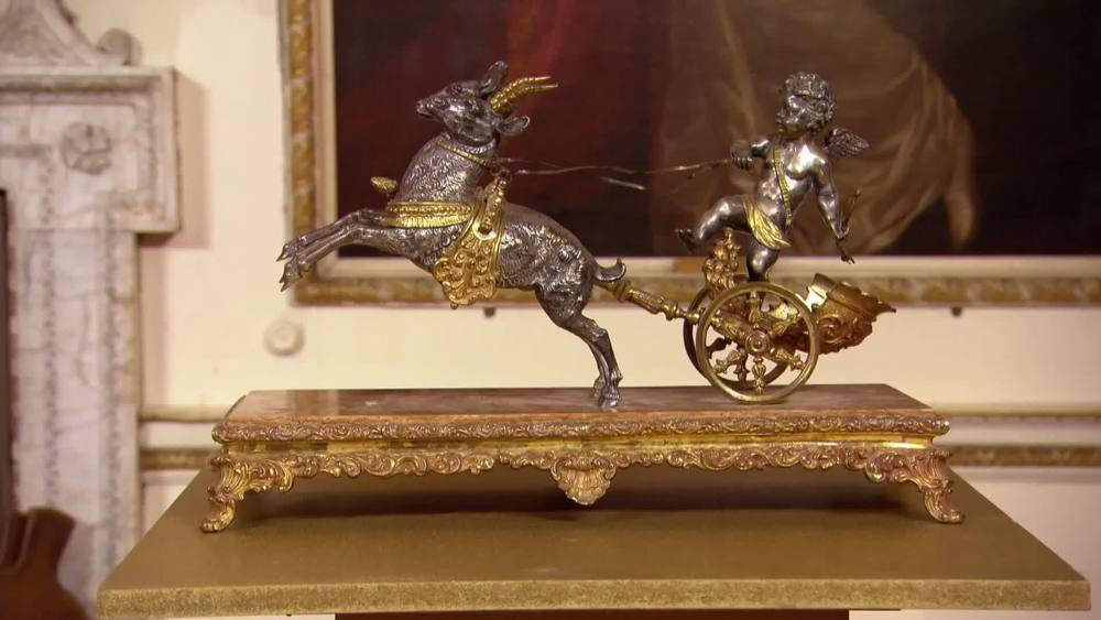 Silvered bronze chariot figure on marble base. £970 | The Swan | www.theswan.co.uk