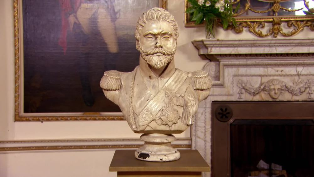 Plaster bust of Russian general Tsar Nicholas the second. £1000 | The Swan | www.theswan.co.uk