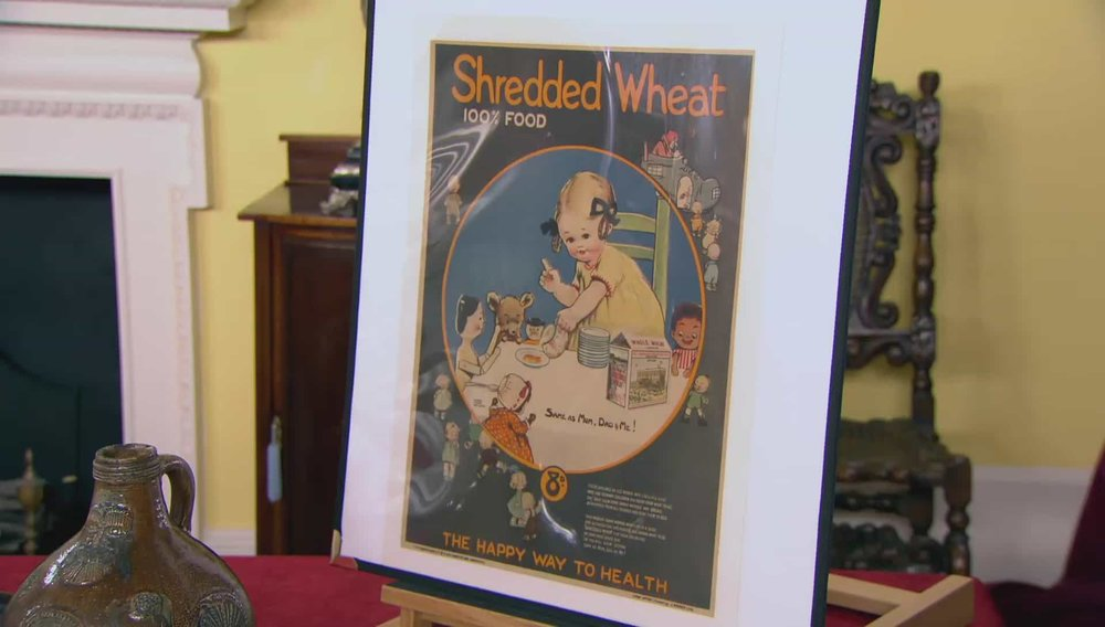 Poster - Shredded Wheat A well known brand but doesn't have the collators following that more iconic brands and industries have. Price: £1,250 Visit Antikbar website