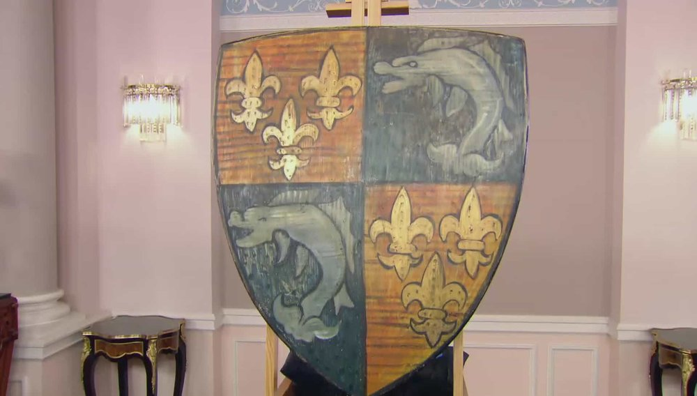 Shield Not as old as it purports to be - purely a decorative item. Price: £150