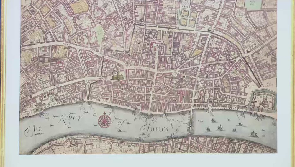 England's Glory A 1676 hand coloured engraved plan of London. This shows the parts of London rebuilt after the 1666 great fire of London. Very early. Price:£11,500 Visit Daniel Crouch Rare Books website