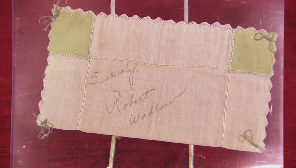 Robert Wadlow Signed Hankerchief Price: £200 Visit Autographs website