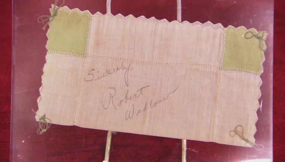 Robert Wadlow Signed Hankerchief Price:£200 Visit Autographs website