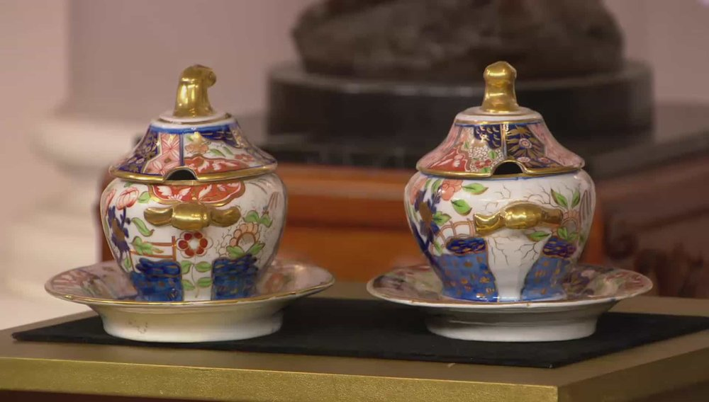 Coalport porcelain sauce tureens, covers and stands Price: £1,850 Visit David Foord-Brown Antiques website