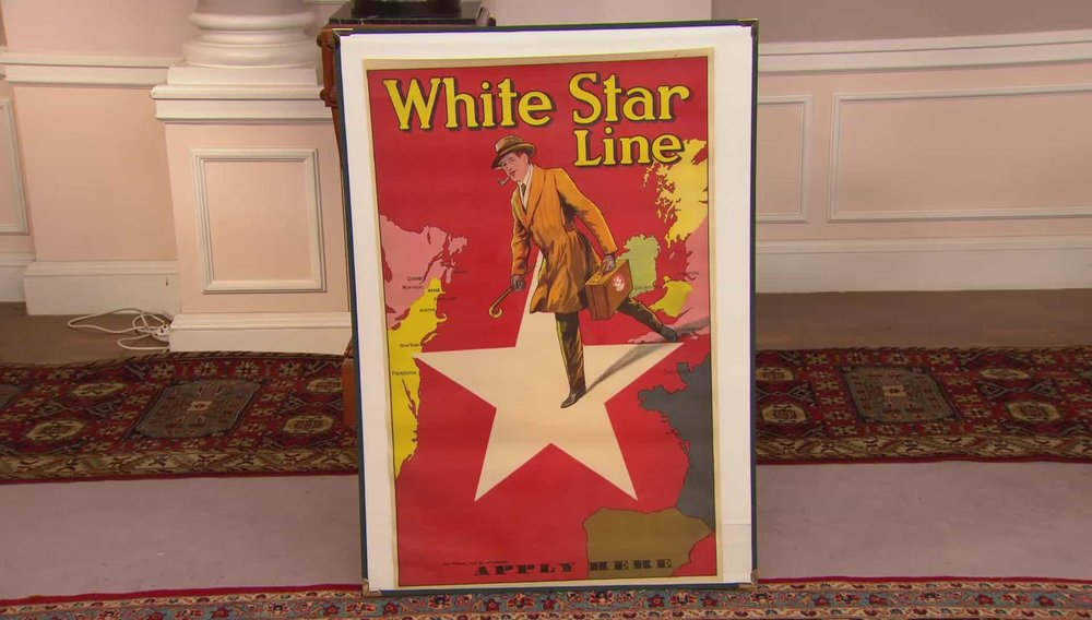 White Star Line Apply Here Poster Price: £2,500 Visit Antikbar website