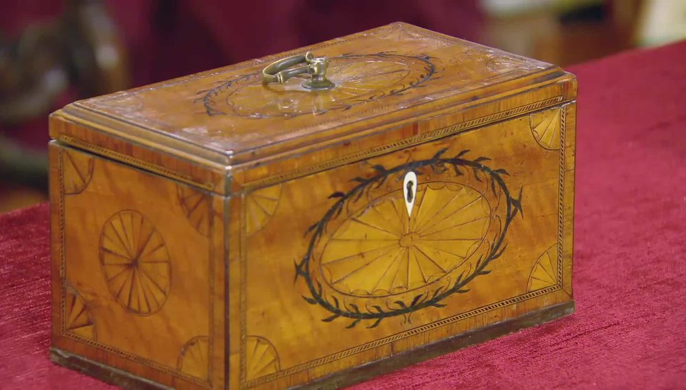 Satinwood Tea Chest Price: £2,350 Visit Hampton Antiques website