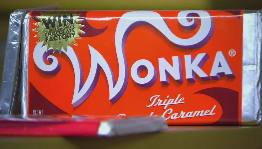 Set of 4 Willy Wonka Bars Price: £1,000