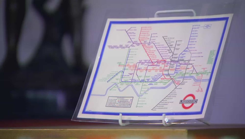 Beck's Tube Map Price: £2,500 Visit Daniel Crouch Rare Books website