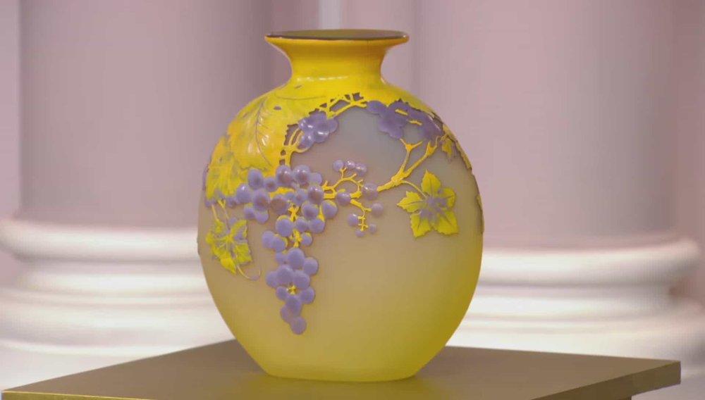 Gallé Raison Souffle Vase Price:£14,500 Visit Hickmet Fine Arts website