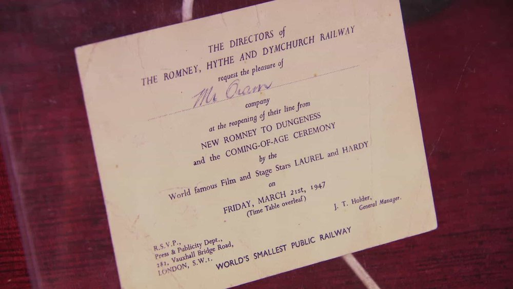 Laurel & Hardy Signed Invite Price: £750 Visit Autographs website