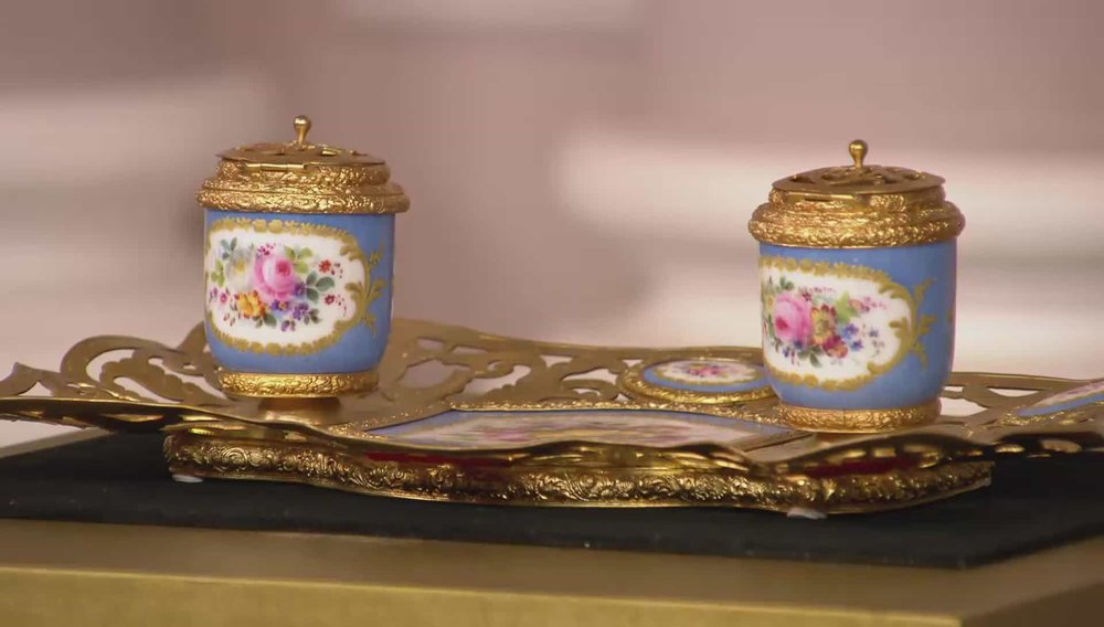 Ormolu and Sevres Porcelain Inkstand Price: £1,650 Visit Regents website