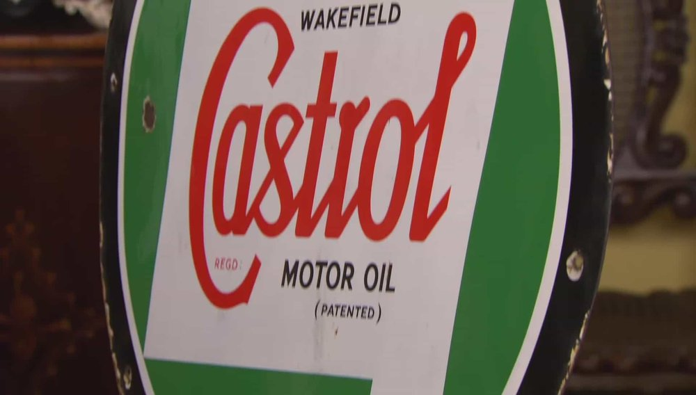 Castrol R Sign Price: £600 VISIT UK RESTORATION WEBSITE