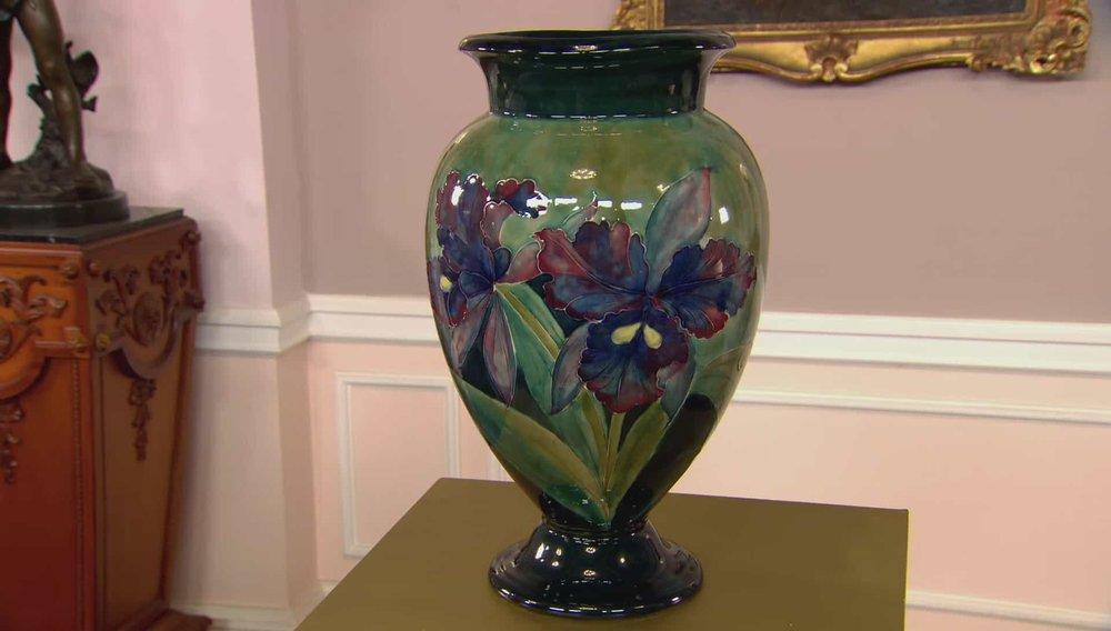 Moorcroft An Orchid Vase Price:£10,000 VISIT MOORCROFT WEBSITE