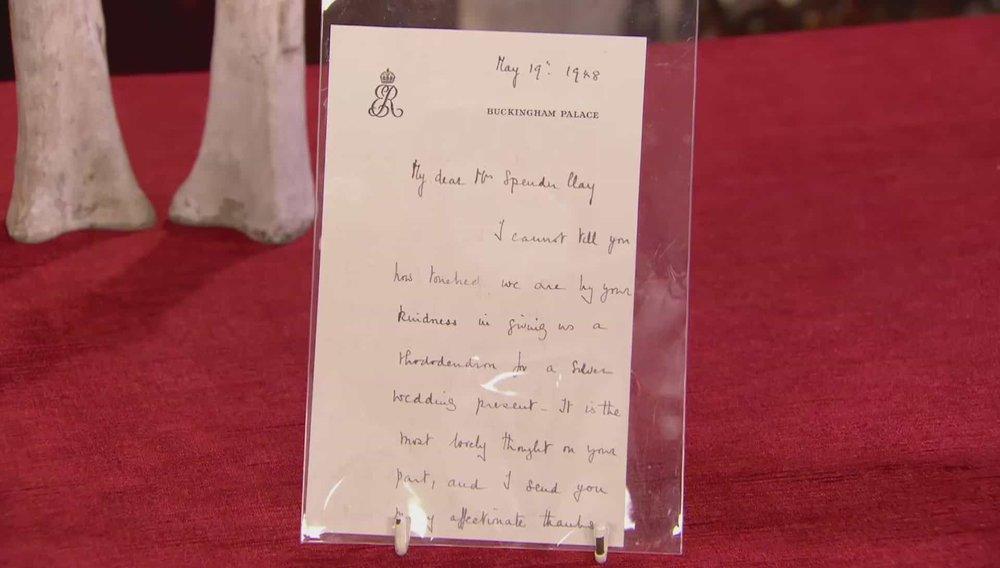 Queen Mother Letter Price:£380 VISIT SOPHIE DUPRE WEBSITE