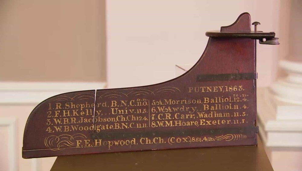 Oxford/Cambridge Boat Race Commemorative Rudder Price:£950 VISIT MANFRED SCHOTTEN ANTIQUES WEBSITE