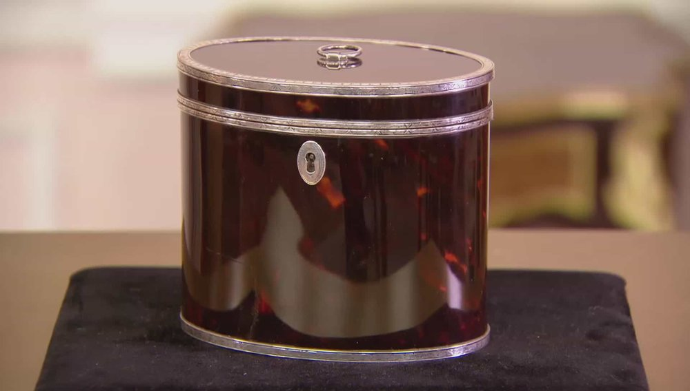 Tortoiseshell Tea Caddy Price:£17,850 VISIT HAMPTON ANTIQUES WEBSITE