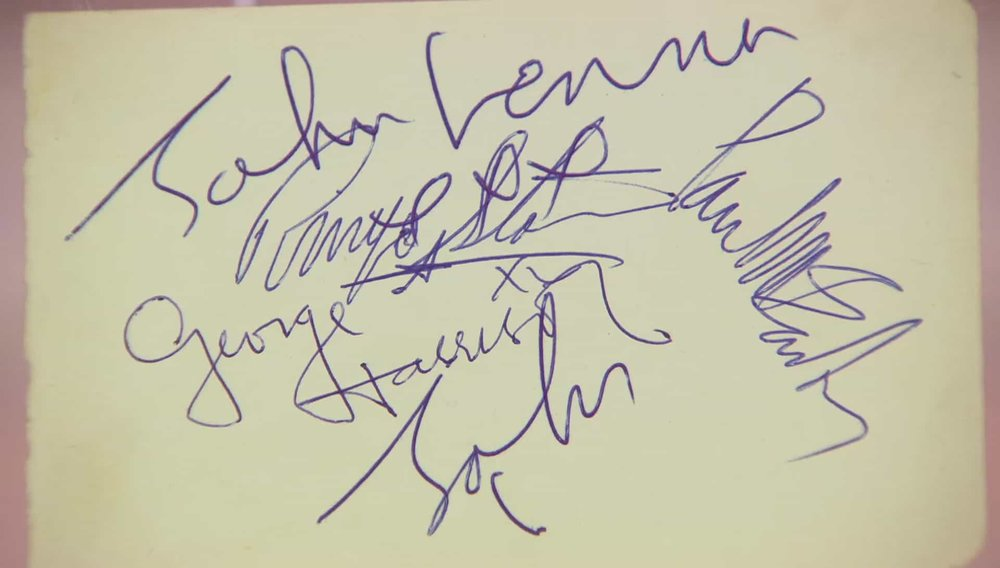 Beatles Signatures Price:£5,000 VISIT AUTOGRAPHS WEBSITE