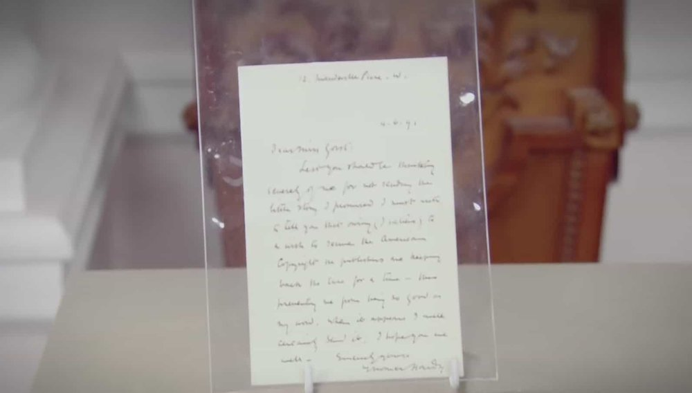 Thomas Hardy Letter Price: £1,500 VISIT SOPHIE DUPRE WEBSITE