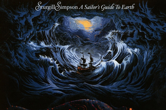 "Album art from Sturgill SImpson's ""A Sailor's Guide to Earth"""