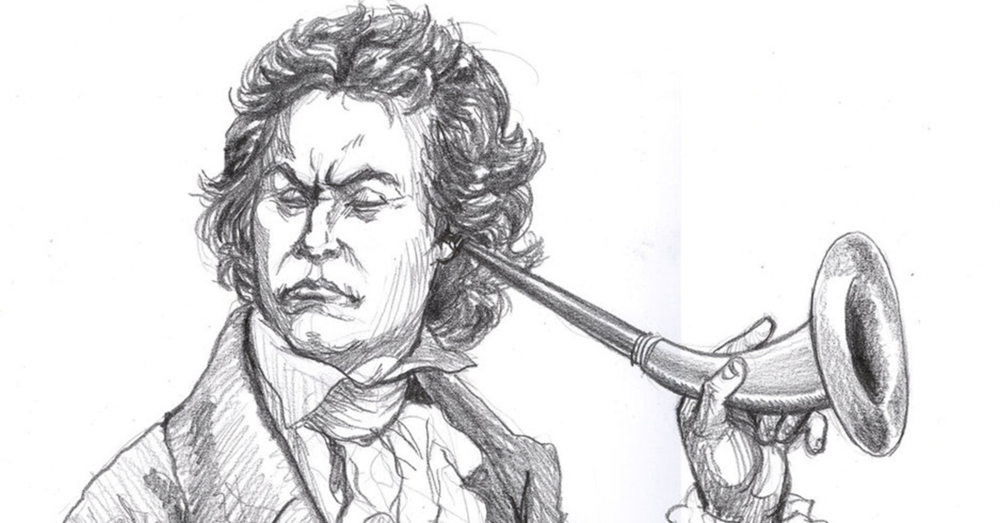"""Beethoven Deaf' by Artigas - http://artigas.deviantart.com/art/Beethoven-Deaf-152169442"