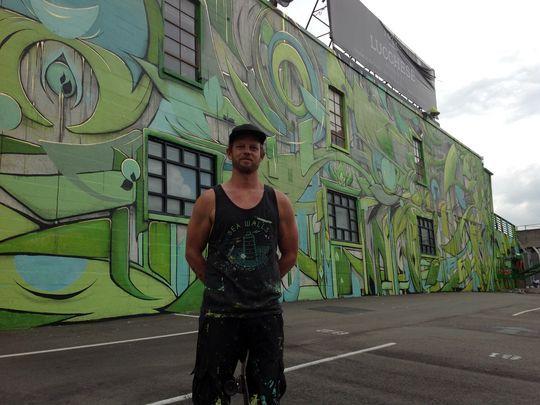 ARTIST: Jason Woodside (top) , Ian Ross (bottom)  LOCATION: 11th Avenue South