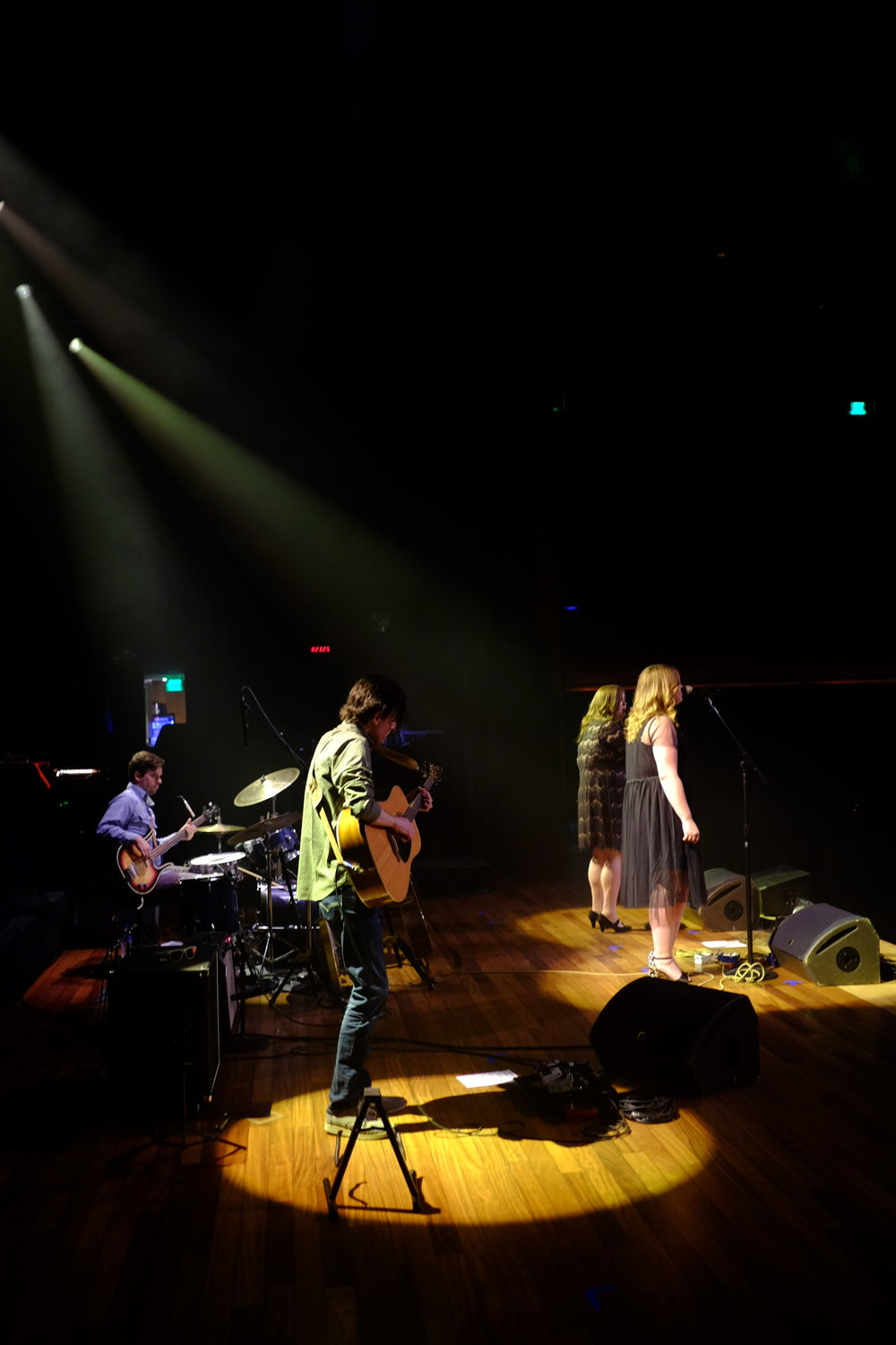 A great shot by Mark Slagle taken at the Ryman during The Secret Sisters set prior to Jason Isbell