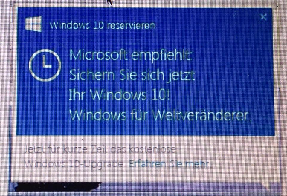 Upgrade nach Windows 10