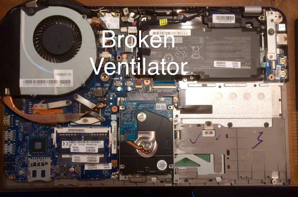 Noisy Ventilator, Laptop