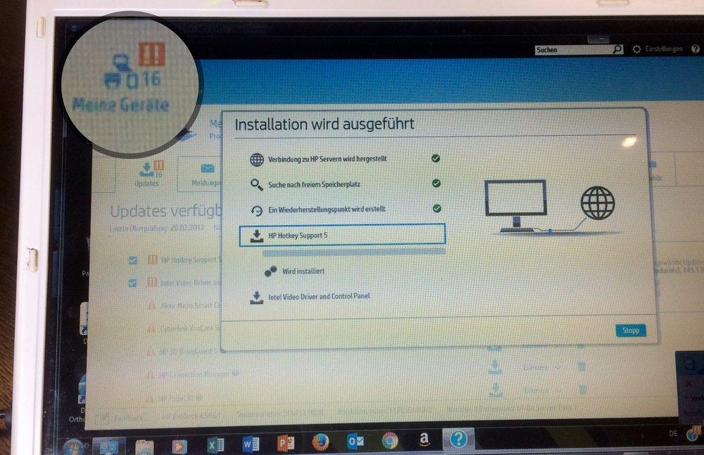 Computer Service: Installation 16 updates Laptop HP, etc.