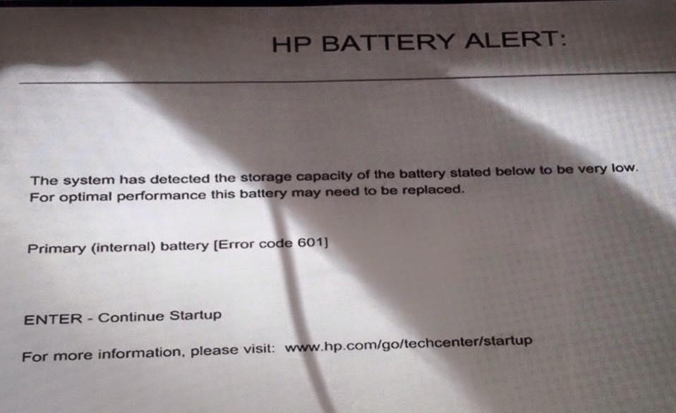 Laptop Batterie defekt