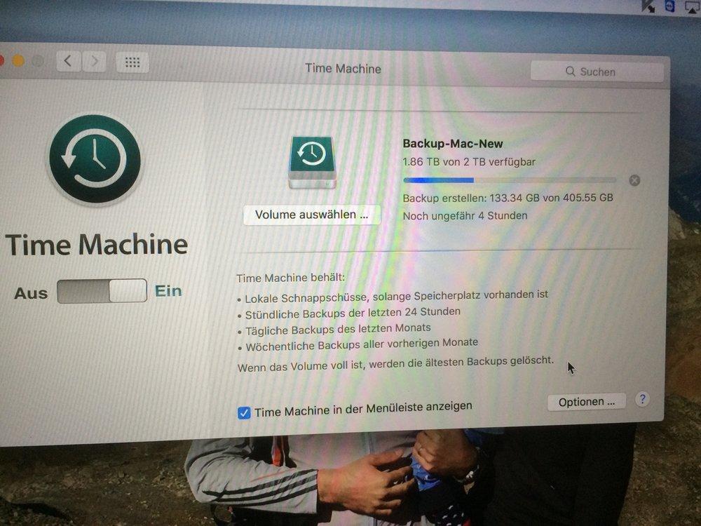 Sicherung Konfiguration für Apple Computer