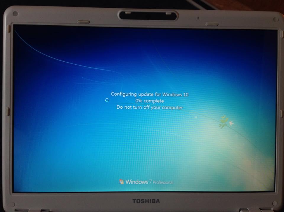 Update Installation für Windows 10