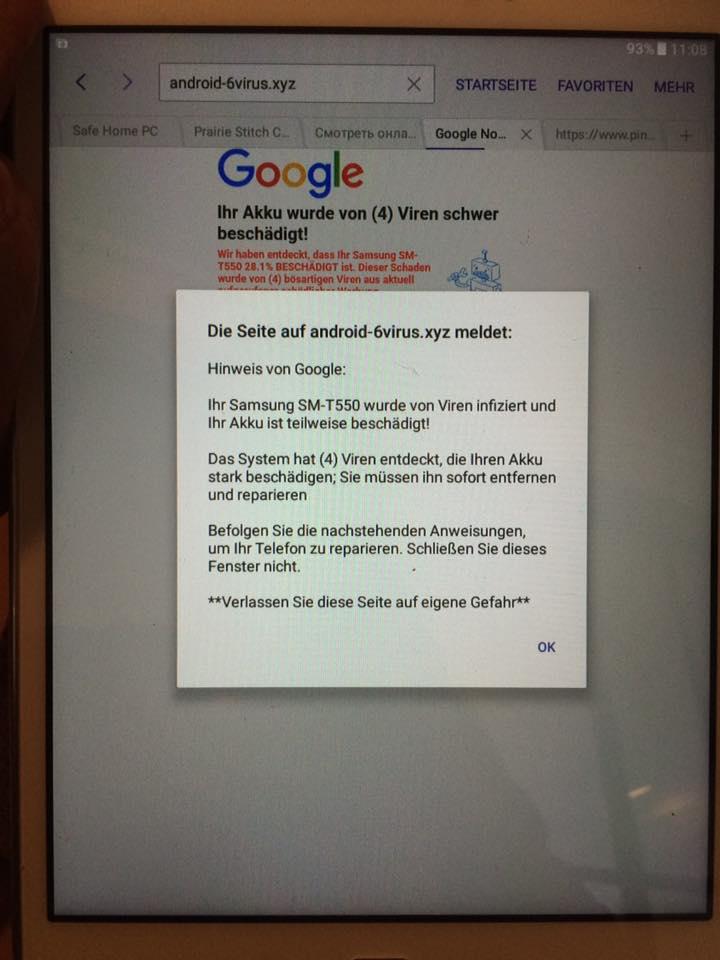 Android Virusreparatur