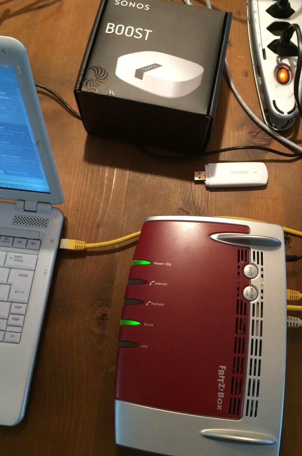 Kabelloser Router & Sonos WLAN Repeater Installation & Konfiguration