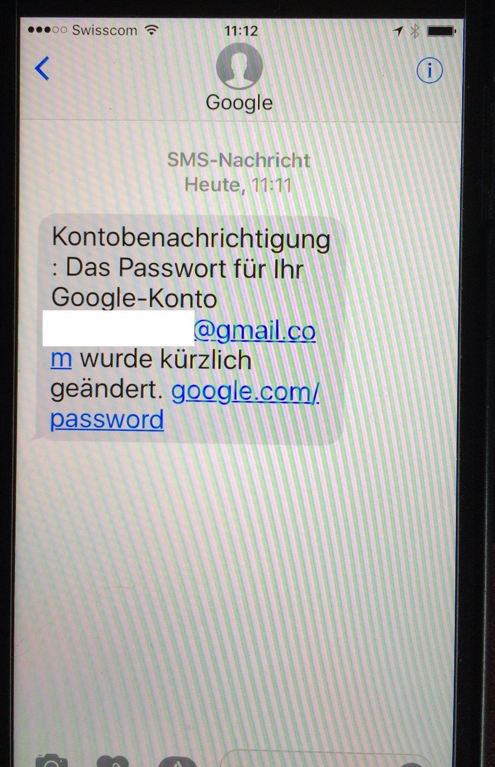 Google Kennwort-Wiederherstellung