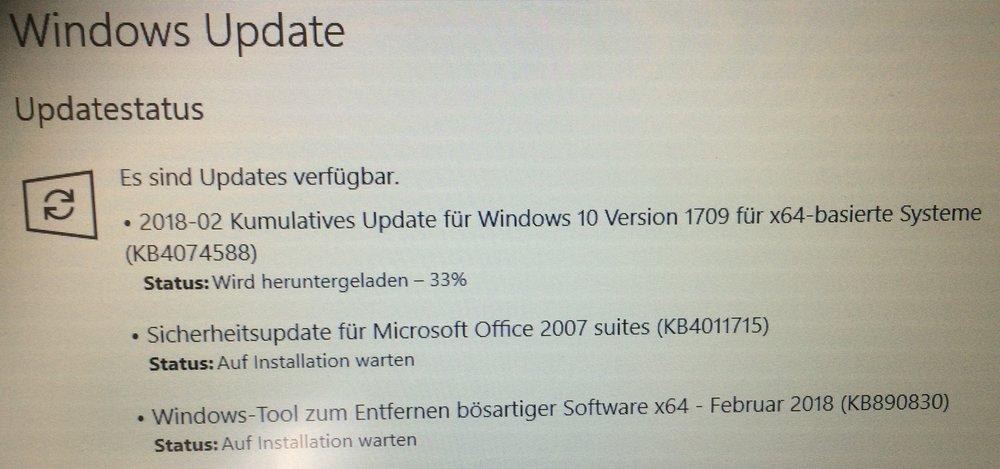 Windows 10 ewige Updates