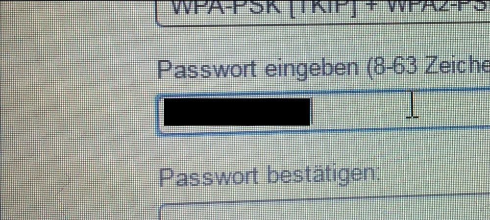 Password Wiederherstellung Kabeloss-Netzwerk