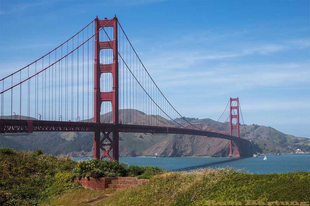 Golden Gate Bridge - San Francisco. The iron ore to build this bridge came from the mines at Lyon Mountain and was also used in the Brooklyn Bridge, and the George Washington Bridge.