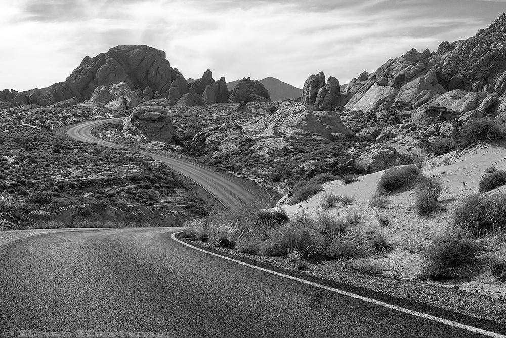 A winding road through the Valley Of Fire in Nevada. An hour and a half away, Las Vegas was crawling with people - but I had this place nearly to myself.