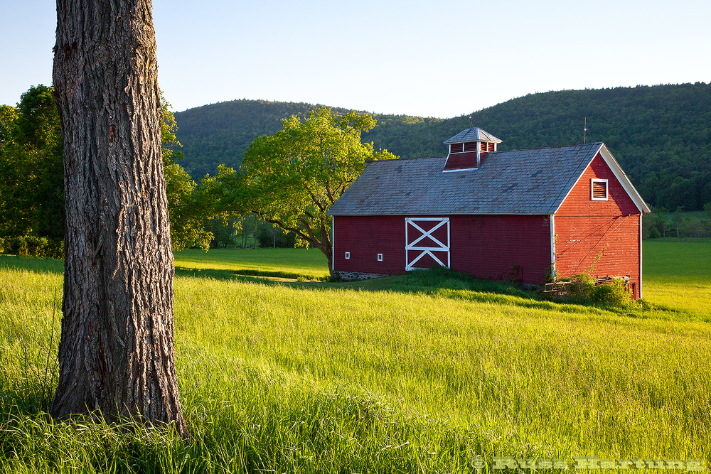 Red barn in Ticonderoga, New York.